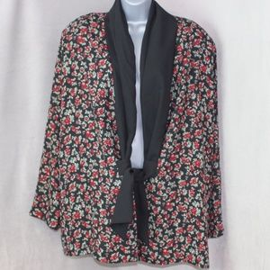 Maggie Lawrence Open Front Blazer Top Jacket
